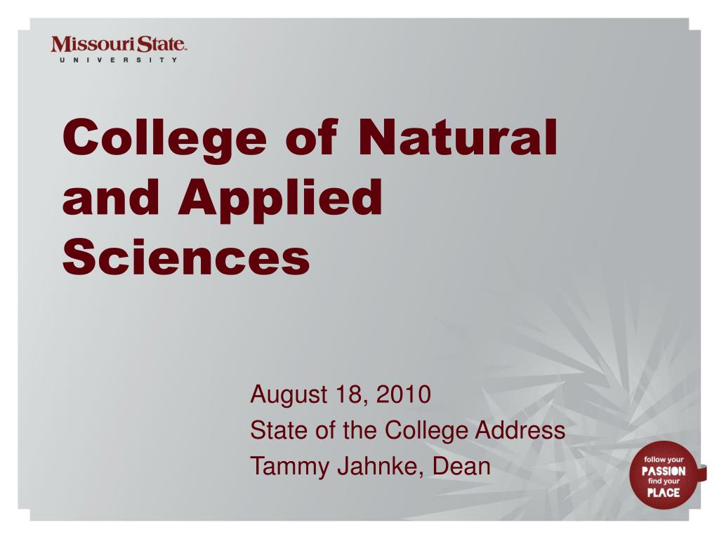 college of natural and applied sciences l.