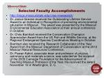 selected faculty accomplishments
