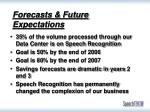 forecasts future expectations