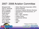 2007 2008 aviation committee