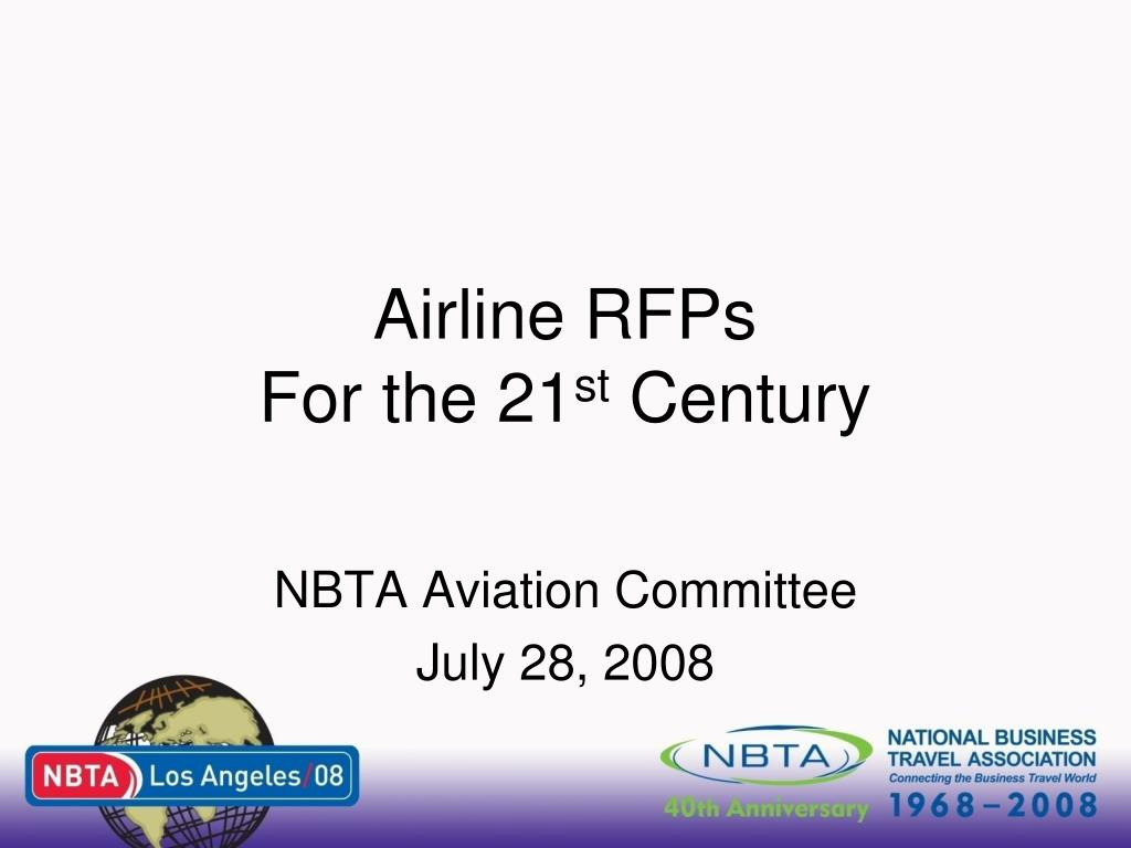 airline rfps for the 21 st century l.