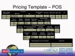 pricing template pos
