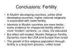 conclusions fertility
