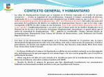 contexto general y humanitario7