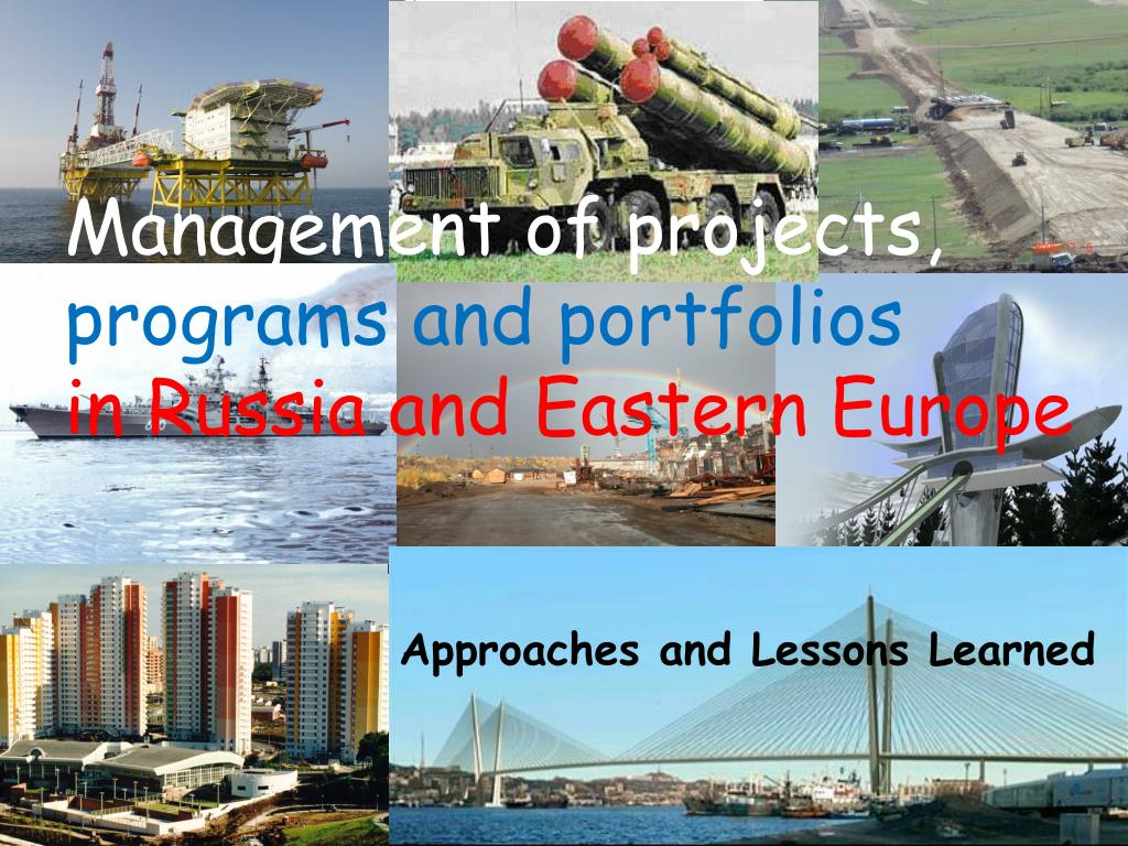 management of projects programs and portfolios in russia and eastern europe l.
