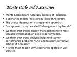 monte carlo and 3 scenarios55