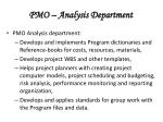 pmo analysis department