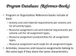 program databases reference books
