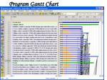 program gantt chart