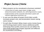 project success criteria40
