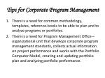 tips for corporate program management