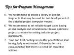 tips for program management72