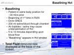 baselining hct