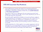 fin 48 uncertain tax positions