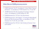 other recent fasb pronouncements