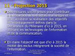 11 projection 2015