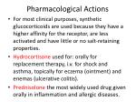pharmacological actions17