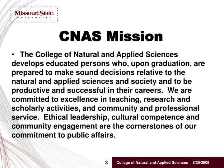 Cnas mission