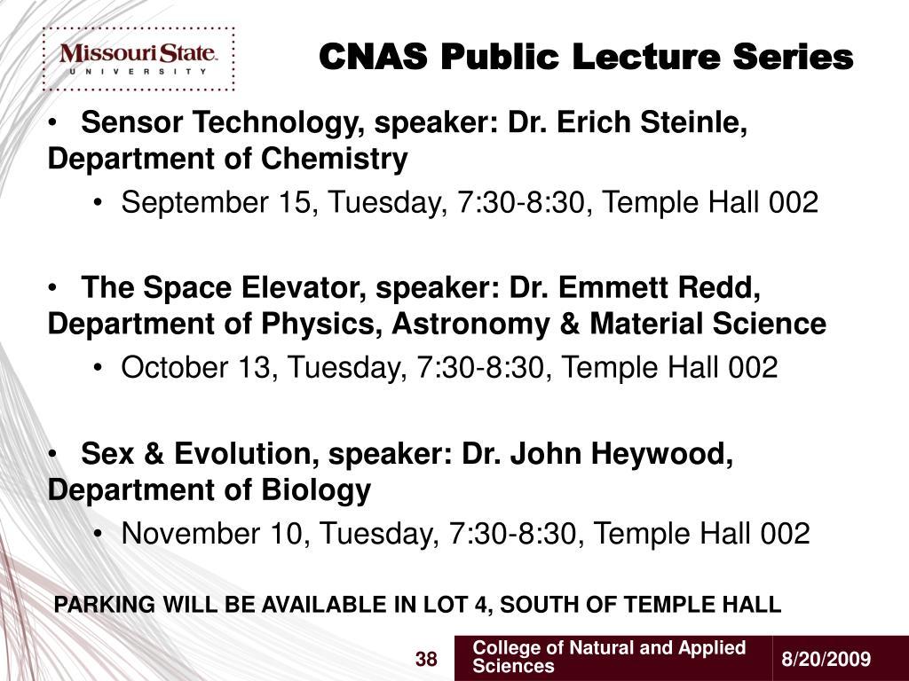 CNAS Public Lecture Series