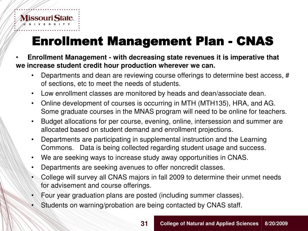 Enrollment Management Plan - CNAS
