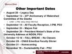 other important dates