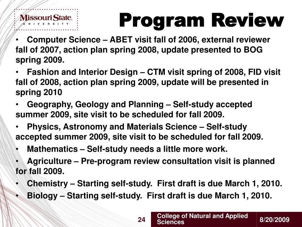 Program Review