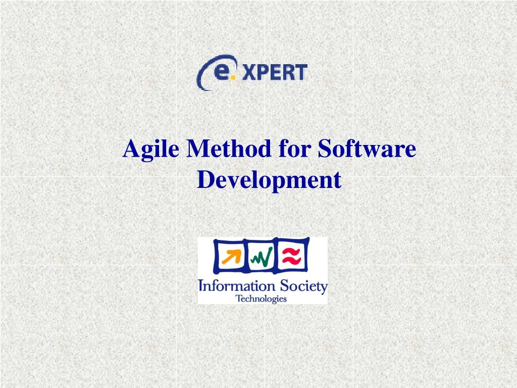 agile method for software development l.