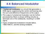 4 4 balanced modulator