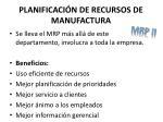 planificaci n de recursos de manufactura