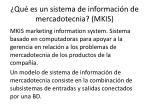 qu es un sistema de informaci n de mercadotecnia mkis