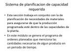 sistema de planificacion de capacidad requerida