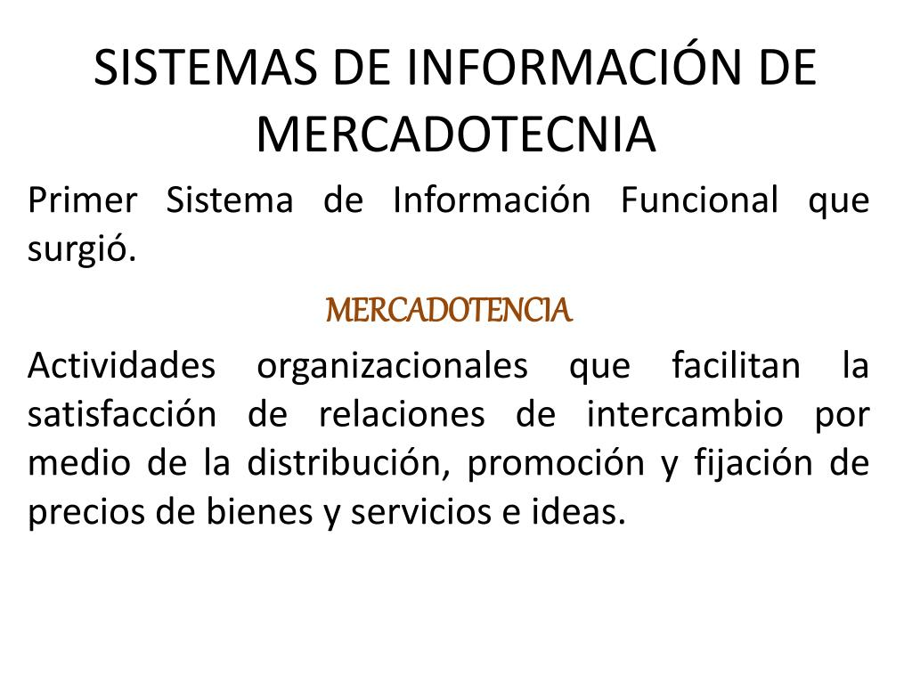sistemas de informaci n de mercadotecnia l.