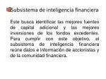 subsistema de inteligencia financiera