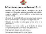 infracciones documentadas al d i h