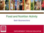 food and nutrition activity