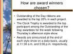 how are award winners chosen