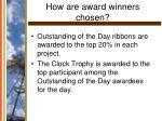 how are award winners chosen38