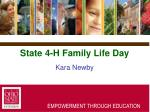 state 4 h family life day