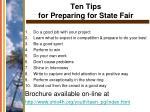 ten tips for preparing for state fair