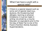 what if we have a youth with a special need