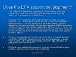 does the epa support development