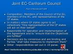 joint ec cariforum council part v articles 227 229