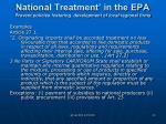 national treatment in the epa prevent policies fostering development of local regional firms