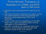 prime minister thompson of barbados on csme and epa speech to ttma 15 04 08