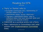 reading the epa art 233