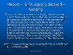 report epa signing delayed golding