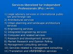 services liberalized for independent professionals ips art 83