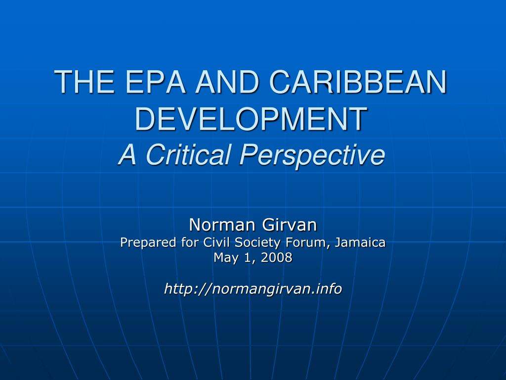 the epa and caribbean development a critical perspective l.