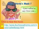 enjoy stevie s music