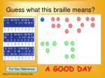 guess what this braille means